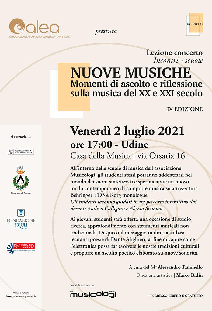 NUOVE MUSICE - Momenti di ascolto e riflessione nella musica del XX e XXI secolo